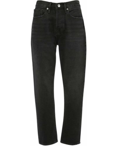 Прямые синие укороченные джинсы с карманами в стиле бохо Frame