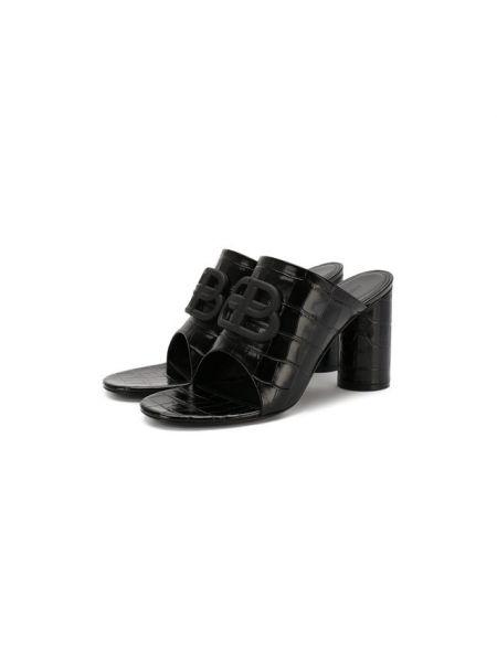 Мюли кожаные на каблуке Balenciaga