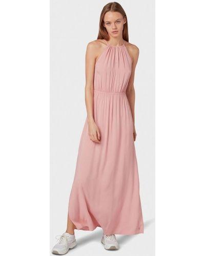 Джинсовое платье розовое прямое Tom Tailor Denim