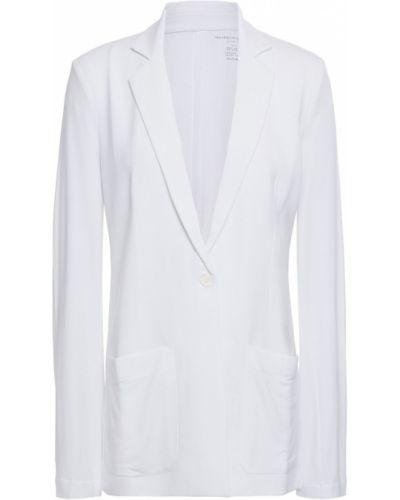 Трикотажный белый пиджак с карманами Majestic Filatures