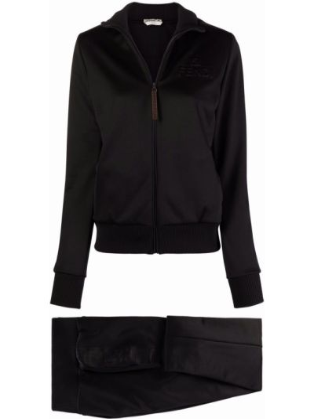 Czarny dres bawełniany Fendi