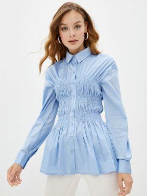 Блузка с длинными рукавами - голубая Gloss