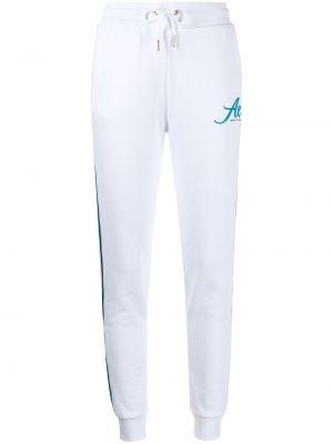 Хлопковые спортивные брюки с перфорацией с принтом Armani Exchange