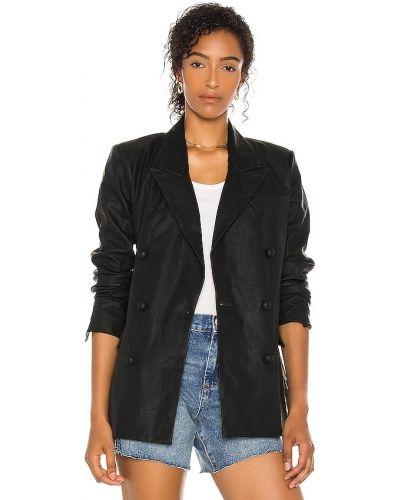 Кожаный черный пиджак с карманами [blanknyc]