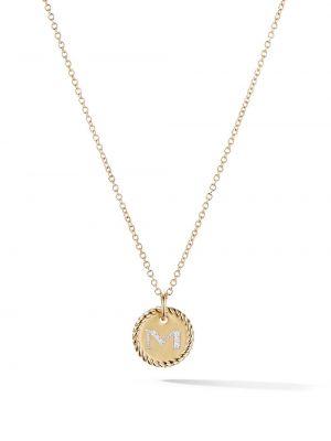 Złoty naszyjnik z diamentem elegancki David Yurman
