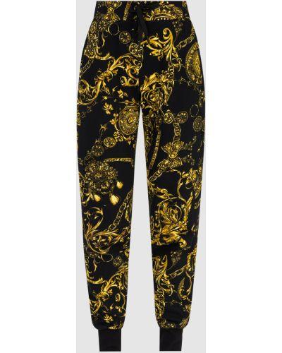 Джинсовые джоггеры - черные Versace Jeans Couture