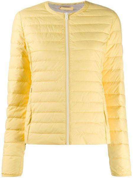 Прямая желтая куртка на молнии круглая Ecoalf