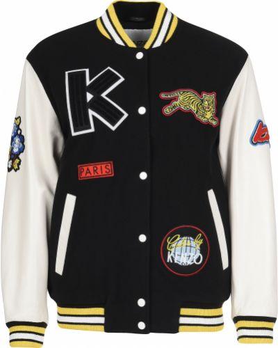 Мутоновая черная куртка Kenzo