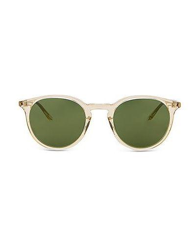 Zielone okulary vintage skorzane Barton Perreira