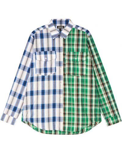 Хлопковая рубашка с карманами свободного кроя Artem Krivda