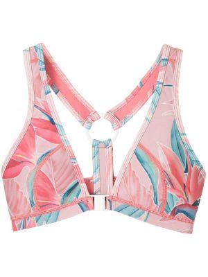 Нейлоновый розовый спортивный топ Duskii