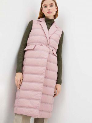 Розовая пуховая жилетка Baon