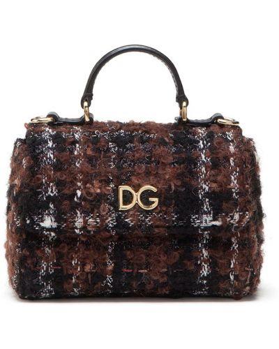 Ватная с ремешком черная кожаная косметичка Dolce & Gabbana Kids