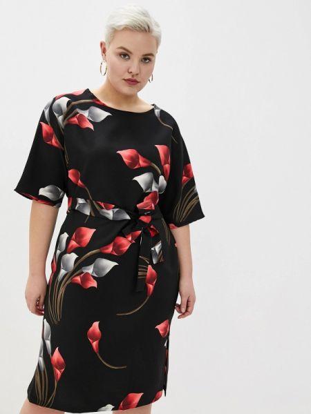 Черное повседневное платье Darissa Fashion