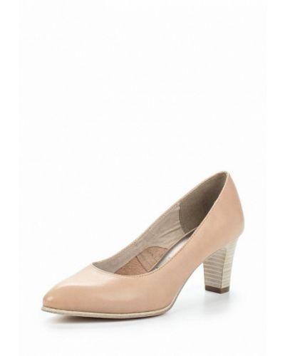 Туфли-лодочки кожаные на каблуке Tamaris
