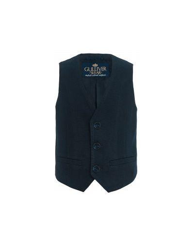 Синяя модная жилетка твидовая Gulliver Wear