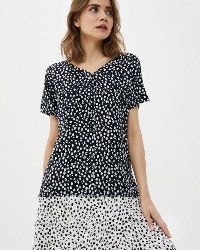 Черная блузка с короткими рукавами Luhta