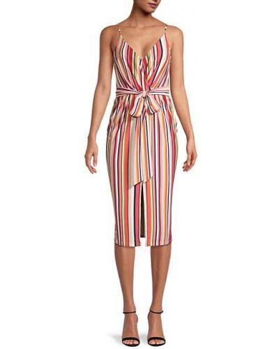 Платье в полоску без рукавов на бретелях Bcbgeneration
