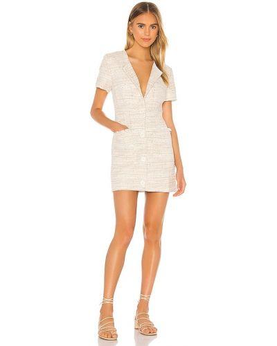 Beżowy bawełna bawełna światło sukienka mini L'academie