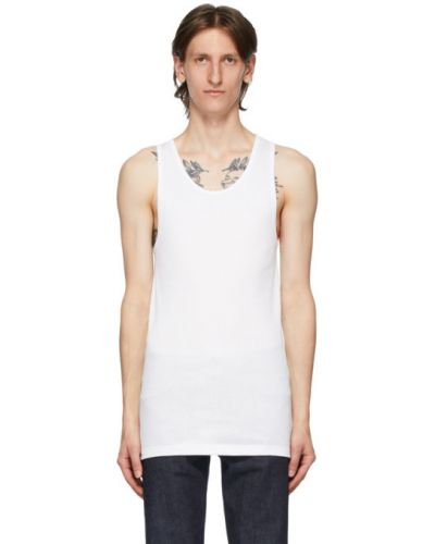 Топ белый без рукавов Calvin Klein Underwear