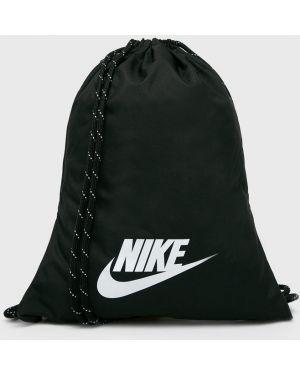 Czarny sport plecak z printem Nike Sportswear