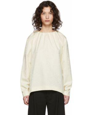 Bluzka z długim rękawem z wzorem biała Toteme