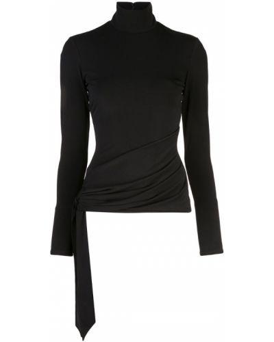 Блузка с длинным рукавом прямая черная Cinq A Sept