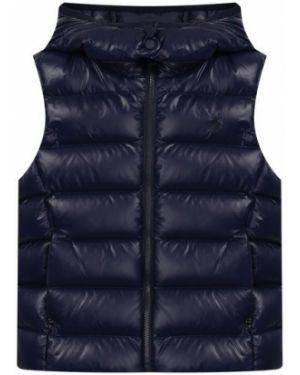 Нейлоновый синий жилет с карманами с перьями Polo Ralph Lauren