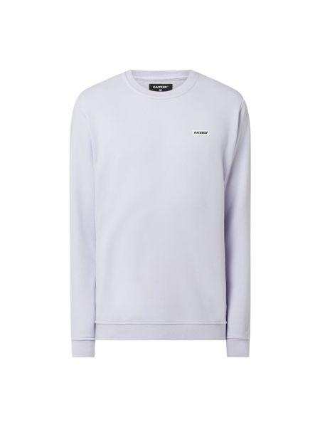 Prążkowana fioletowa bluza bawełniana Raizzed