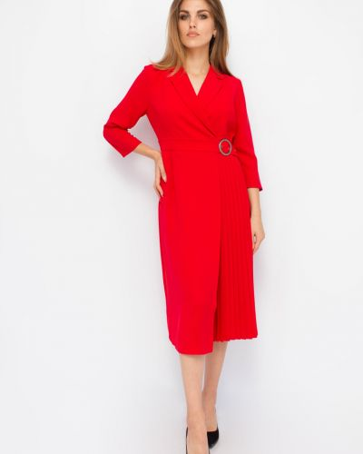Платье трапеция - красное Espiga