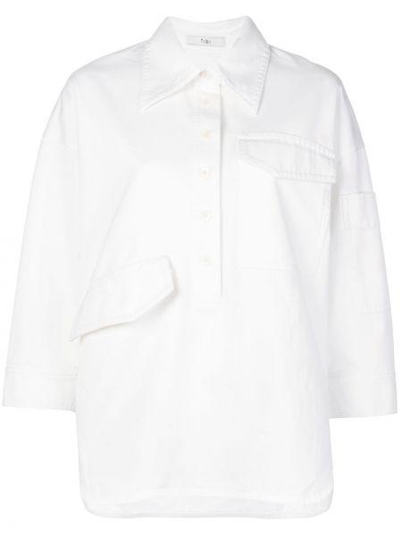 Koszula biała z kołnierzem Tibi