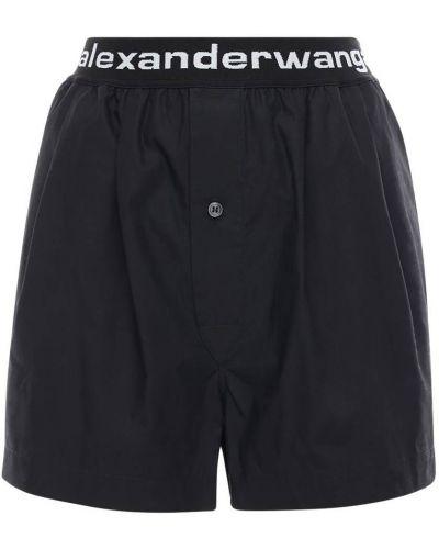 Bawełna bawełna czarny szorty elastyczny Alexander Wang