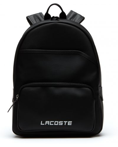 Кошелек на молнии черный Lacoste