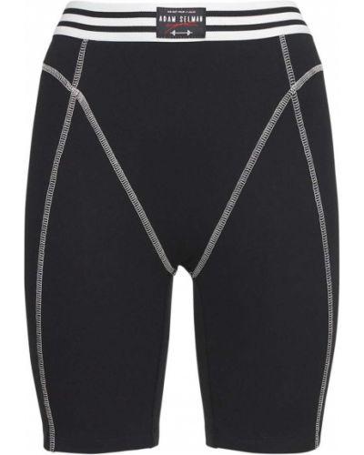 Черные шорты на резинке Adam Selman Sport