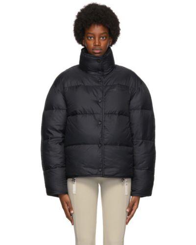 С рукавами черная длинная куртка с капюшоном Acne Studios