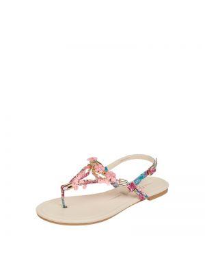 Sandały z cekinami - różowe Buffalo