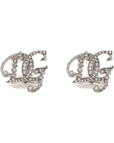 Запонки из серебра серебряный Dolce & Gabbana