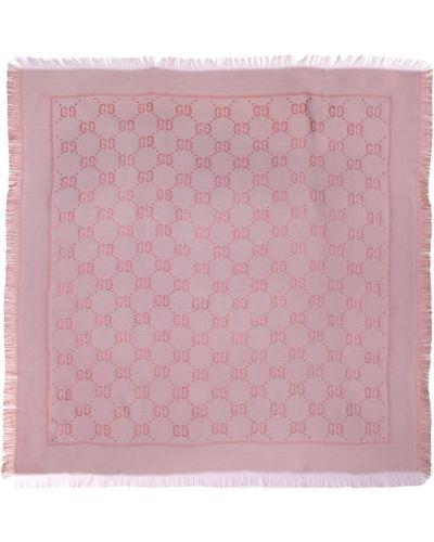 Fioletowy szalik bawełniany Gucci