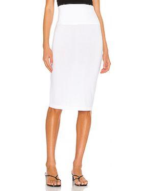 Белая юбка с вырезом Norma Kamali