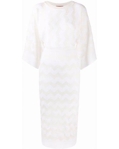 Шерстяное платье миди - белое Missoni