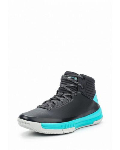 Синие высокие кроссовки Under Armour