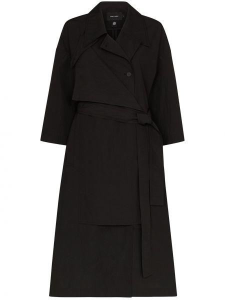 Черное пальто классическое с воротником двустороннее Low Classic
