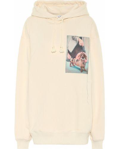 Beżowy bawełna bawełna bluza z kapturem Acne Studios