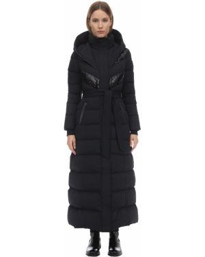 Пальто с капюшоном без воротника био пух Mackage