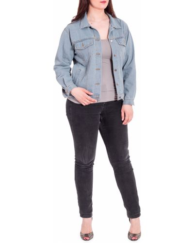 Джинсовая куртка винтажная голубая Lacywear