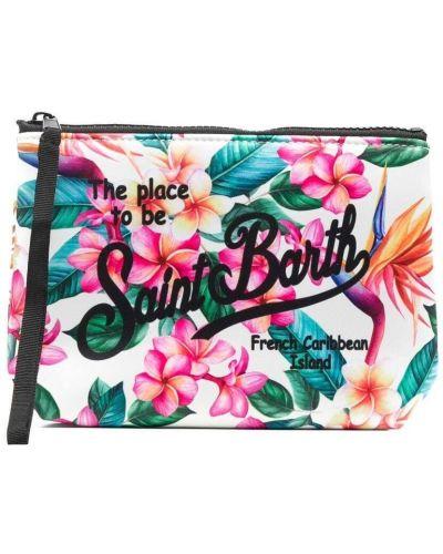 С ремешком косметичка в цветочный принт из неопрена Mc2 Saint Barth