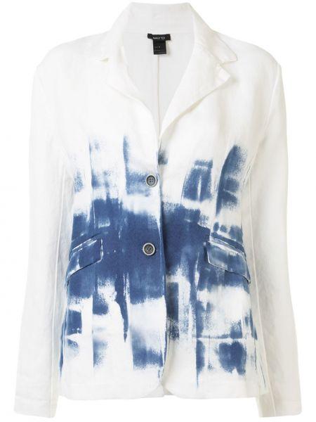 Синий классический пиджак с карманами с лацканами с длинными рукавами Avant Toi