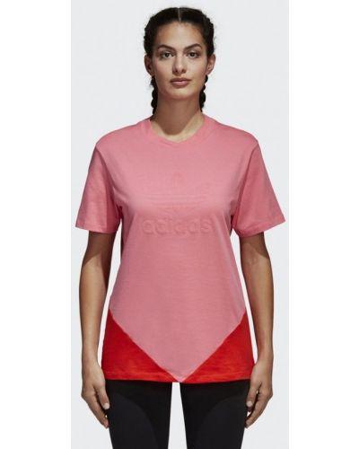 Розовое поло Adidas Originals