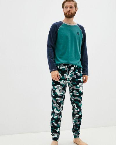 Бирюзовая зимняя пижама United Colors Of Benetton