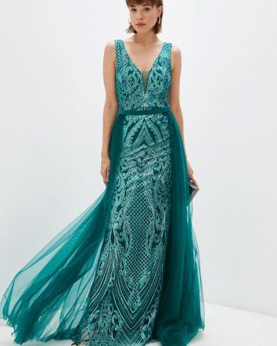 Зеленое зимнее платье Soky & Soka